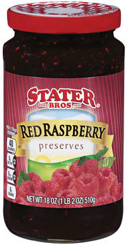 Stater Bros.® Red Raspberry Preserves 18 oz.