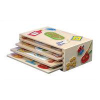 KidKraft Wooden Holiday Peg Puzzle Set of 4
