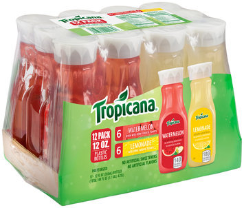 Tropicana® Watermelon & Lemonade Juice Drink 12-12 fl. oz. Bottles
