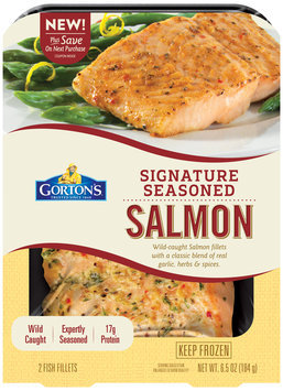 Gorton's® Signature Seasoned Salmon 6.5 oz. Pack