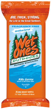 Wet Ones Outdoors Antibacterial  Portable Washcloths 35 Ct Package