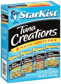 StarKist® Tuna Creations® Tuna Variety Pack 4-2.6 oz. Pouches