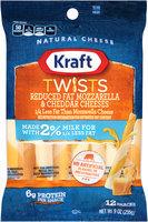 Kraft Twists Reduced Fat Mozzarella & Cheddar Cheese Snacks 12 ct Bag