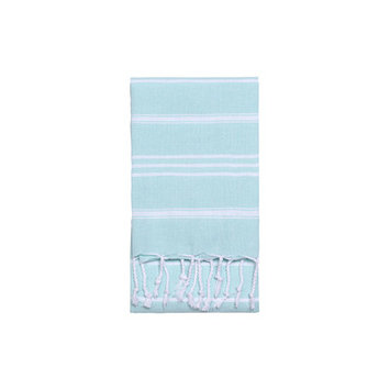 Nine Space Stripe Hand Towel 2 ea, 31 x 15, Aqua, 1 ea