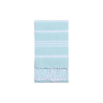 Nine Space Stripe Hand Towel 2 ea, 31 x 15, Aqua, 1 ea