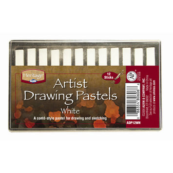 Alvin & Company Alvin ADP12WH White Heritage Artist Drawing Pastel - Set of 12