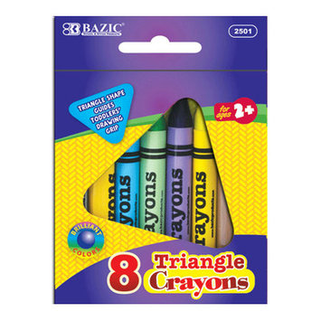 BAZIC 8 Color Premium Quality Super Jumbo Triangle(Case of 72)