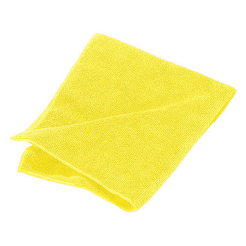 Carlisle 3633404 - Microfiber Terry Cleaning Cloth, 16 x 16-in, Yellow
