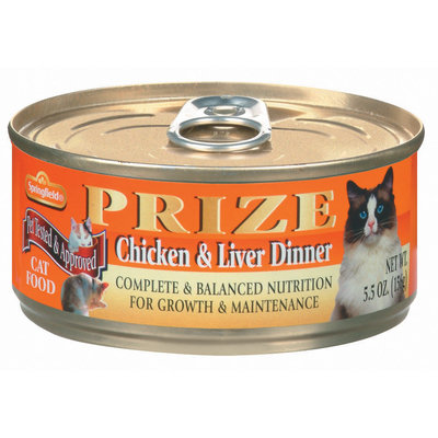 Springfield Prize Chicken & Liver Dinner Cat Food 5.5 Oz Can