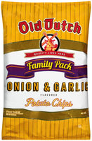 Old Dutch® Onion & Garlic Flavored Potato Chips Family Pack 9.5 oz. Bag