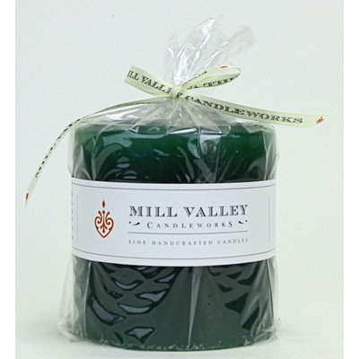 Mill Valley Candleworks Evergreen Scented Pillar Candle Size: 4