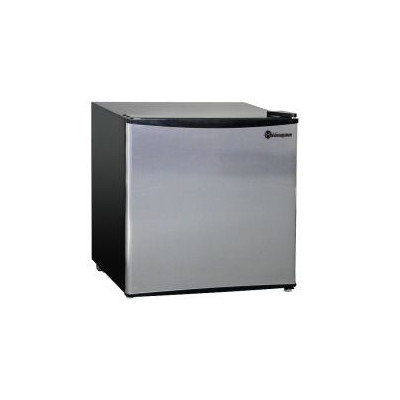 Kegco MDC160-1BS - 1.6 CF Compact Refrigerator - Black Cabinet with Stainless Steel Door