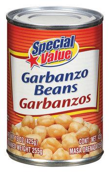 Special Value  Garbanzo Beans 15 Oz Can