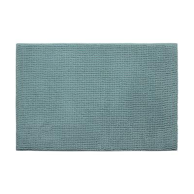 Bath Studio Plush Memory Foam Chenille Cushioned Single Bath Mat, Marine Blue, 20 x 30