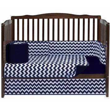 Baby Doll Bedding Chevron 4 Piece Crib Bedding Set Color: Navy