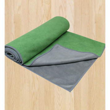 Gaiam America Gaiam Dual-Grip Yoga Towel - Green Vine/Charcoal