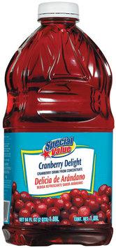 Special Value Delight Cranberry Drink 64 Oz Plastic Bottle