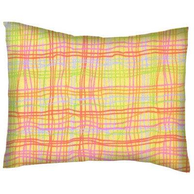 Stwd Grid Cotton Flannel Crib/Toddler Pillow Case
