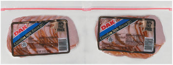 Dak 98% Fat Free 12 Oz  Sliced Canadian Bacon 2 Pk Zip Pak
