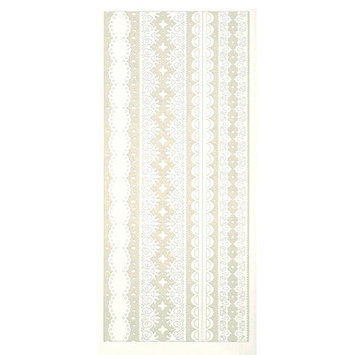 Hot Off The Press DAZ1608 Dazzles Stickers Lacy Border White