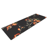 Kess Inhouse Blackflower by Louise Yoga Mat