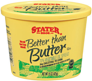 Stater Bros. 70% Better Than Butter Vegetable Oil Spread 15 Oz Tub
