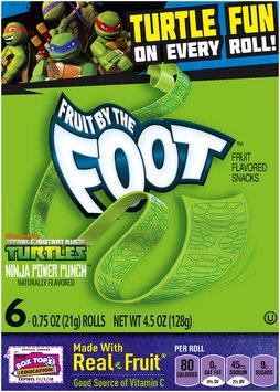 Betty Crocker® Fruit by the Foot® Teenage Mutant Ninja Turtles™ Ninja Power Punch™ Fruit Flavored Snacks 6 ct Box