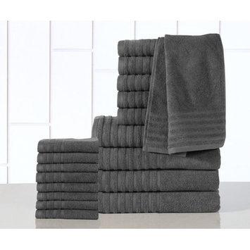 Affinity Linens GSM Egyptian Cotton 18 Piece Towel Set Color: Gray