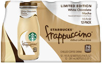 Starbucks® White Chocolate Mocha Frappuccino® Coffee Drink 12 Pack 9.5 fl. oz. Glass Bottles