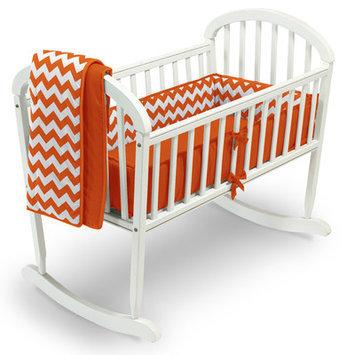 Baby Doll Bedding Chevron 3 Piece Cradle Bedding Set Color: Orange