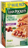 Lean Pockets Italian Style Meatballs & Mozzarella 17 ct Box