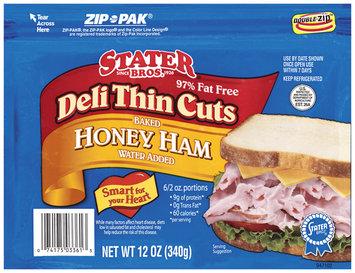 Stater Bros. Baked Honey Deli Thin Cuts Ham 12 Oz Zip Pak
