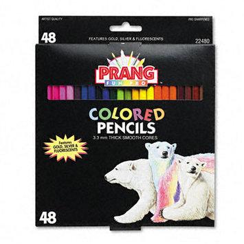 DIXON TICONDEROGA CO. 22480 Colored Woodcase Pencils 3.3mm 50 Assorted Colors/set