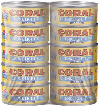 Coral Chunk Light In Water 5 Oz Cans Tuna 10 Ct Wrapper