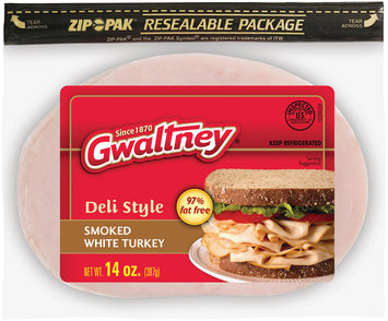 Gwaltney® Deli Style Smoked White Turkey 14 oz. ZIP-PAK®