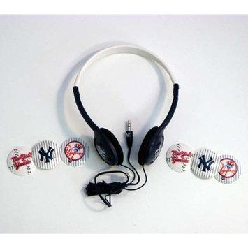 Ihip Digital New York Yankees Style, MLB Inter-Changeable Graphics Overhead Headphone