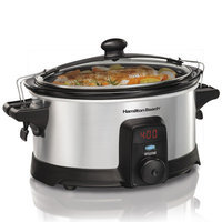 Hamilton Beach 6 -Quart Stay or Go IntelliTime Slow Cooker