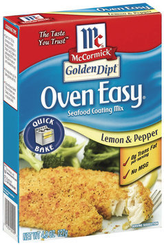 Golden Dipt Oven Easy Quick Bake Lemon & Pepper Seafood Coating Mix