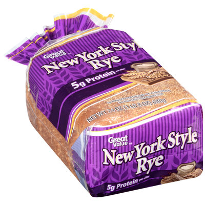 Great Value™ New York Style Rye Bread 24 oz. Loaf