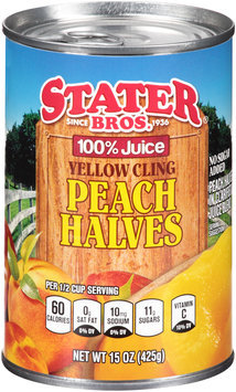 Stater bros® 100% Juice Yellow Cling Peach Halves