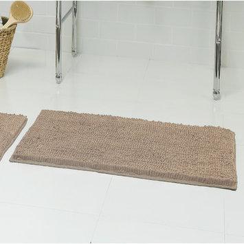 Resort Collection Chenille Plush Bath Mat (Set of 2), Linen