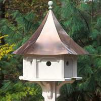 Lazy Hill Farms Polished Copper Roof Carousel Bird House