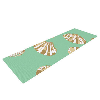 Kess Inhouse Scallop Shells by Rosie Brown Yoga Mat