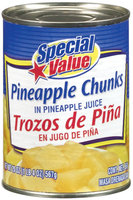 Special Value Chunks In Pineapple Juice Pineapple 20 Oz Can