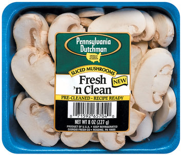 Pennsylvania Dutchman Fresh 'n Clean Sliced Mushrooms 8 Oz Tray