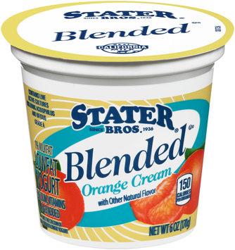 Stater Bros.® Blended Orange Cream Lowfat Yogurt 6 oz. Cup