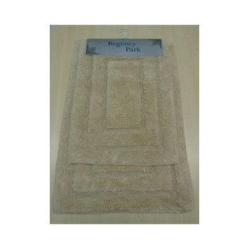 Am Home Textiles Race Track 2 Piece Bath Mat Set, Beige