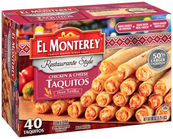 El Monterey® Restaurante Style Chicken & Cheese Taquitos 40 ct Box