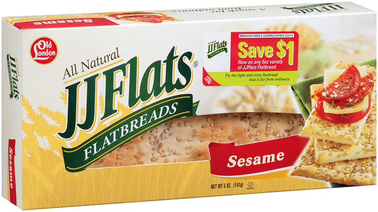 JJ Flats® Sesame Flatbreads