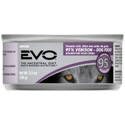 EVO 95% Venison Dog Food 5.5 oz. Can